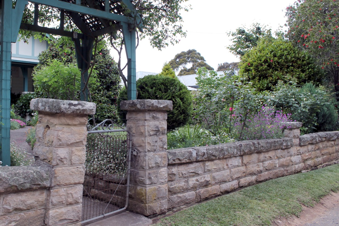 Traditional wall and garden.