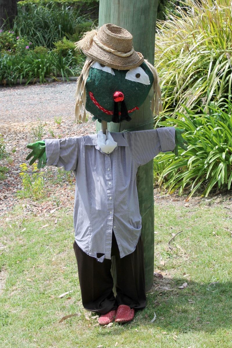 A scarecrow.